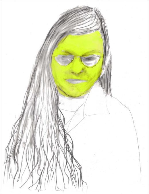 Alina, 2006, Bleistift und Ecoline auf Papier, 42 x 59,4 cm