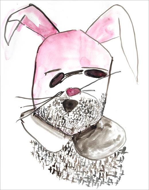 Bunny (#24), 2019/2020, Aquarell auf Papier, 59,4 x 42 cm