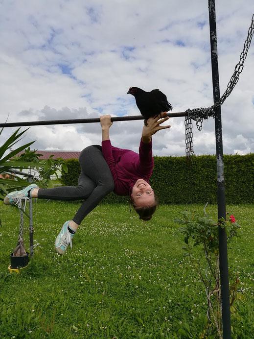 Luftakrobatik Meathook am Trapez und Aerial Hoop in Augsburg