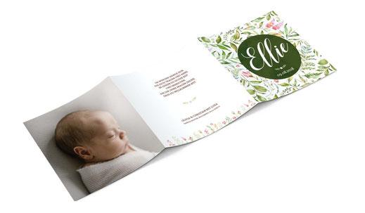 Geburtskarte mit 6 Seiten kartendings.ch Geburtsanzeige Schweiz Babykarte