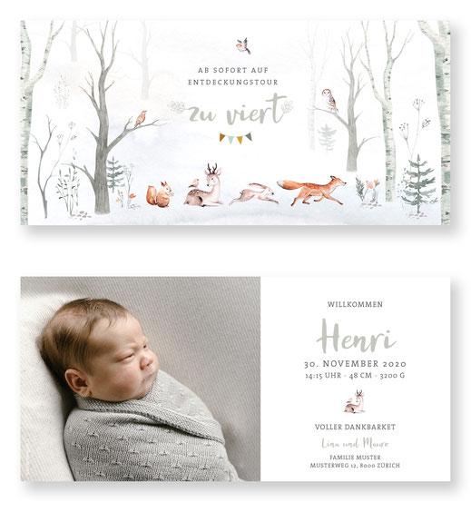 Weihnachtskarte Baby Geburtskarte Baby mit Weihnachstmotiv Babykarte kartendings.ch Schweiz