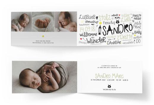 Geburtskarte Geburtsanzeige kartendings.ch