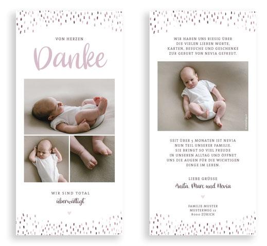 Dankeskarte Baby Schweiz kartendings.ch