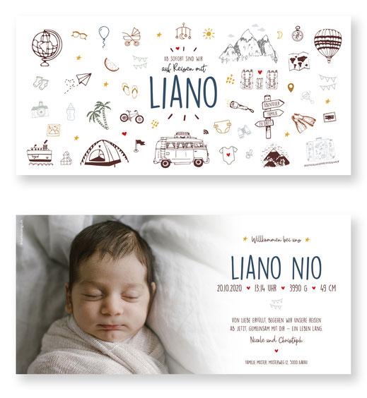 Geburtskarte Schweiz kartendings Geburtsanzeige. Babykarte zur Geburt.