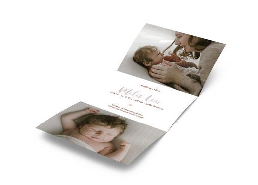 Geburtsanzeige Geburtskarte Schweiz Baby kartendings.ch