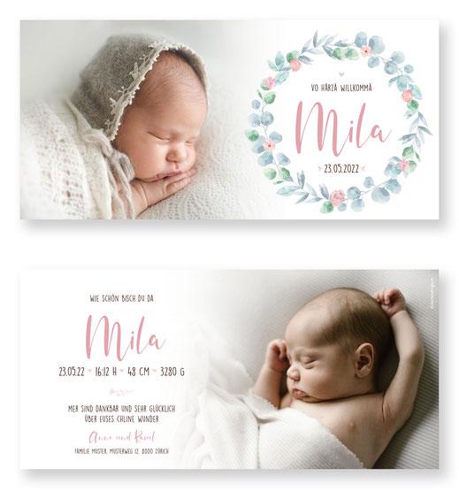Geburtsanzeige Geburtskarte Schweiz