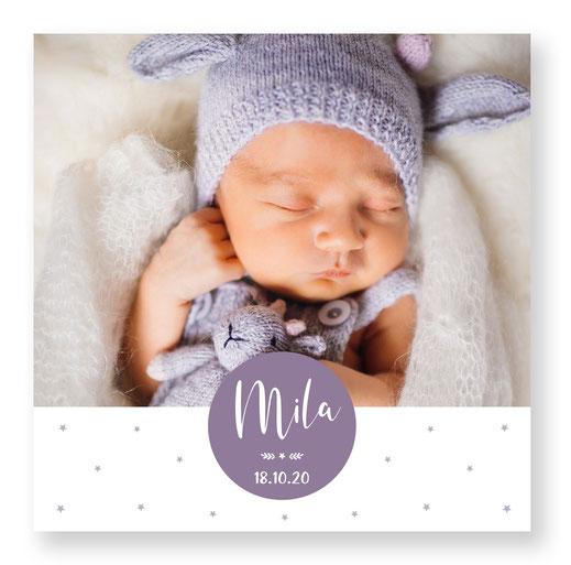 Geburtsanzeige Babykarte Geburtskarte Schweiz kartendings.ch 4-seitig