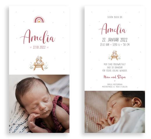 Geburtsanzeige Geburtskarte spezielle Geburtskarte Geburtskarte Schweiz