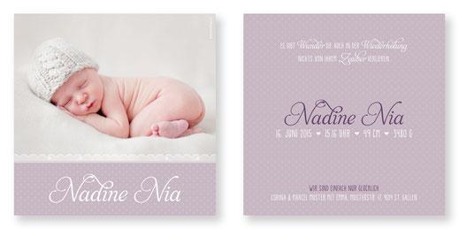 Geburtsanzeige Geburtskarte Babykarte Kartendings.ch
