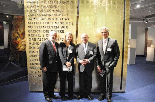 (von links nach rechts) Herr Klaus J. Elsner, Frau Prof. A. Bohnenkamp-Renken,  Herr Friedrich von Metzler, Herr Tilman Wittershagen im Rahmen des  58. Kolloquiums für Führungskräfte des privaten Bankgewerbes im Oktober 2012