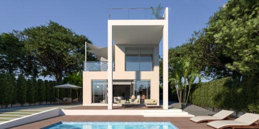 Diseño 3D de una casa en Valencia
