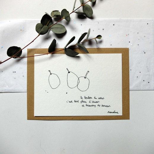 carterie cartes poétiques sensible delicate poesir design narrature melanie tessier