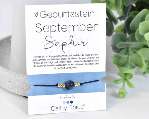 Geburtsstein September - Saphir  11,- €
