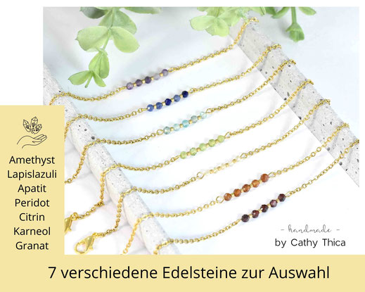 Edelstein Armband  mm mit Edelstein Deiner Wahl  ab 19,90 €