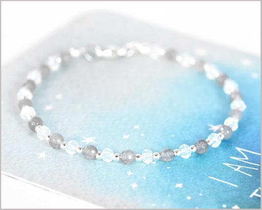 # Opal & Achat Edelstein Armband 2 x 3 mm mit 925 Silber  31,90 €