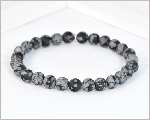 Männer Obsidian Edelstein Armband 8 mm matt