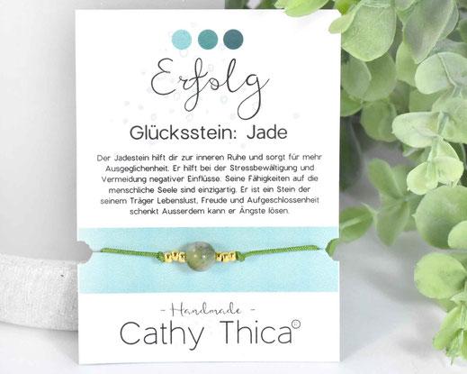 Glücksarmband mit Jade Edelstein  11,- €