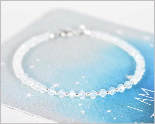 # Opal Edelstein Armband 2 x 3 mm mit 925 Silber  31,90 €