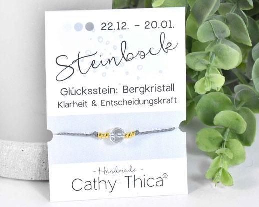 Sternzeichen Armband Steinbock - Bergkristall  11,- €