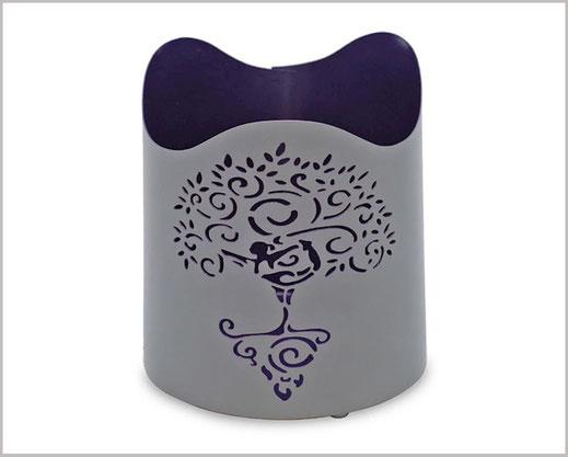 Teelichthalter mit schönem Yoga Baum Motiv