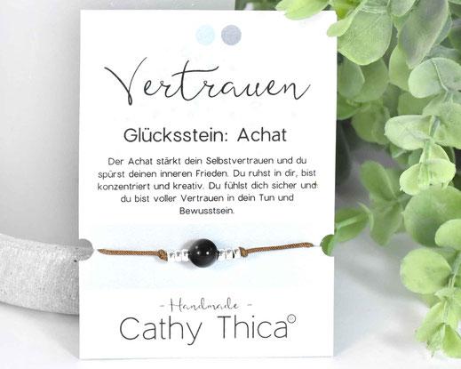 Glücksarmband mit Achat Edelstein  11,- €