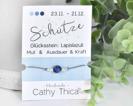 Sternzeichen Armband Schütze - Lapislazuli  11,- €