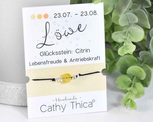 Sternzeichen Armband Löwe - Citrin  11,- €