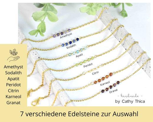 Chakra Armband mit Edelstahl