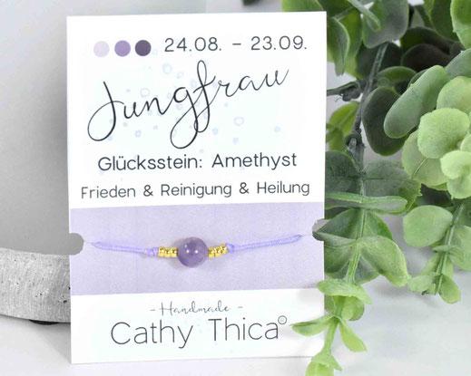 Sternzeichen Armband Jungfrau - Amethyst  11,- €