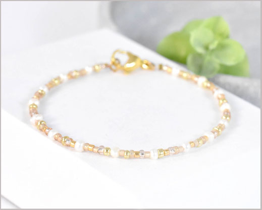 Perlen Armband mit Miyuki Perlen Mix