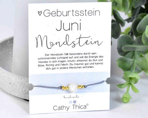 Geburtsstein Juni - Mondstein  11,- €