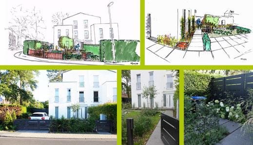Konzeptskizze Vorgartengestaltung