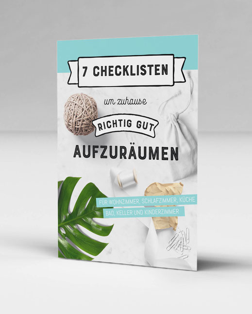 Kostenlose Checklisten, um dein zuhause richtig gut durchzuräumen. www.alles-zum-ausdrucken.de