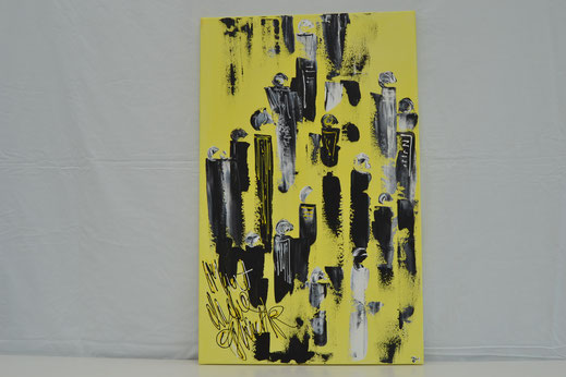 Bild Nr. 11, ZUSAMMENKUNFT, Acryl, 50x80 cm
