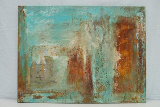 Bild Nr. 22, SYMPHONY, Rost mit Acryl, 60x80 cm
