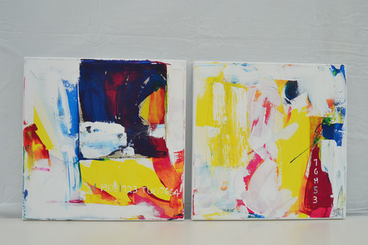 Bild Nr. 17, FINN & SANNA, Acryl, je 40x40 cm