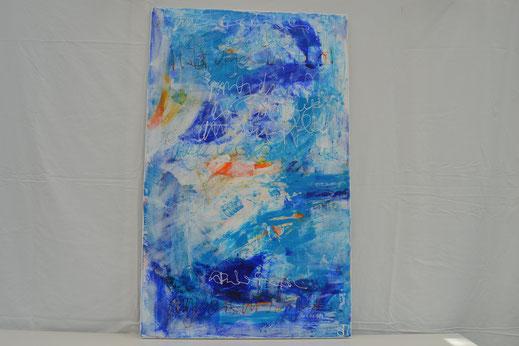Bild Nr. 23, BRANDUNG, Acryl, 60x100 cm