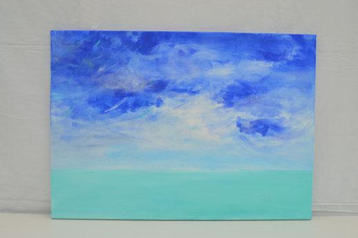 Bild Nr. 14, MER & CIEL, Acryl, 50x70 cm