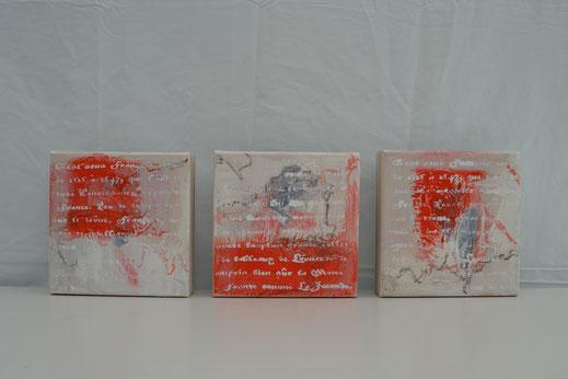 Bild Nr. 31, EXPERIENCE, Acryl-Mischtechnik, je 20x20 cm