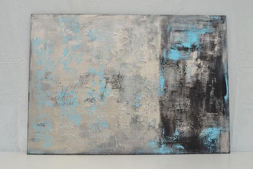 Bild Nr. 7, EISBLUME, Acryl-Mischtechnik, 70x100 cm