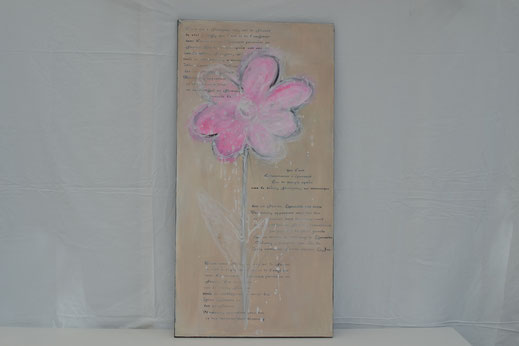 Bild Nr. 4, POESIE, Acryl, 50x100cm