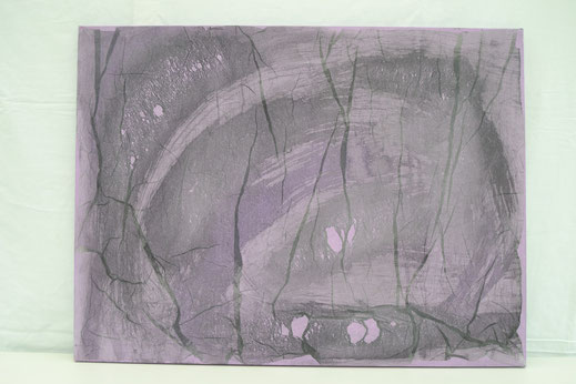 Bild Nr. 12, DEMUT, Acryl mit Tusche, 60x80 cm