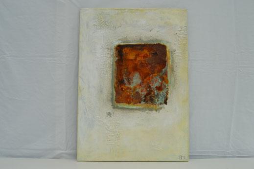 Bild Nr. 24, MELODY II, Rost mit Acryl, 50x70 cm
