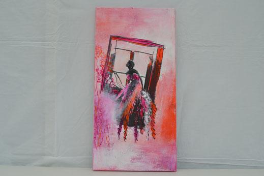 Bild Nr. 6, FIRST DATE, Acryl-Transfertechnik, 30x60 cm