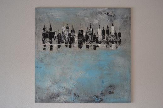Bild Nr. 1, NEW YORK, Acryl-Mischtechnik, 100x100 cm