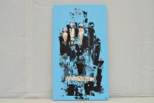 Bild Nr. 15, COURAGE, Acryl, 40x70 cm