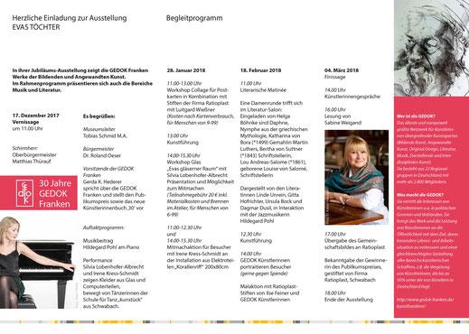 Stadtmuseum, Schwabach, GEDOK, Evas, Töchter, Kunst, Ausstellung, Veranstaltung