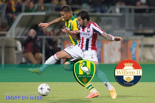 Eredivisie wedstrijd ADO Den Haag - Willem II  Tilburg        8-11-2014