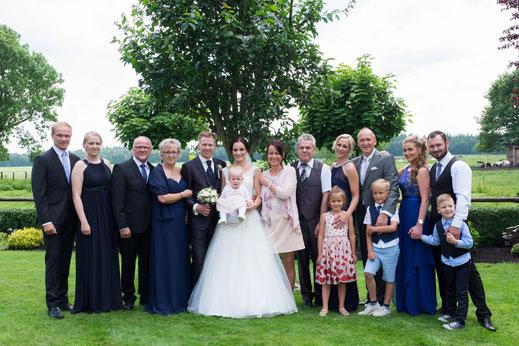 Familienbild, Hochzeitsreportage