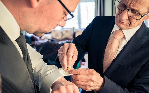 Bräutigam, Schwiegervater, Styling, Ankleiden